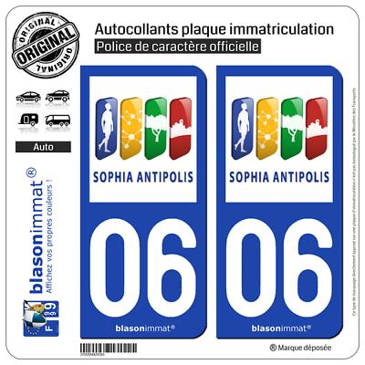 2 Stickers Autocollant Plaque Immatriculation : 06 Antibes - Agglo Vendendo Bene In Tutto Il Mondo