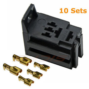 40 Amp Relay Board Mount Connector 5 Pin Relay Socket bracket with 5