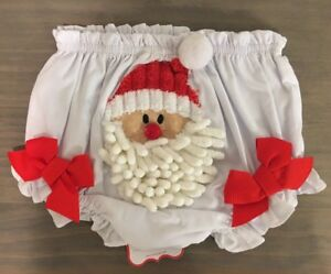 White Christmas Pie.Details About Mud Pie Baby Girls 0 6 Months White Christmas Santa Bloomers Diaper Cover Nwt