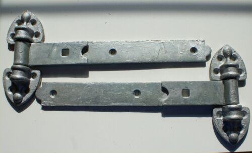 """450mm Light Duty Galvanised 1 Pair Reversible Gate Stable Door Hinges 18/"""""""