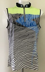 NWT-Jamie-Sadock-Women-039-s-Golf-Sleeveless-Shirt-Size-M-Beautiful-Colors-Voltage
