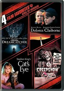 NEW-STEPHEN-KING-DVD-DREAMCATCHER-DELORES-CLAIBORNE-CAT-039-s-EYE-CREEPSHOW