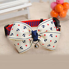 Dog Cat Pet Cute Bow Tie With Bell Puppy Kitten Necktie Collar New Adjustable