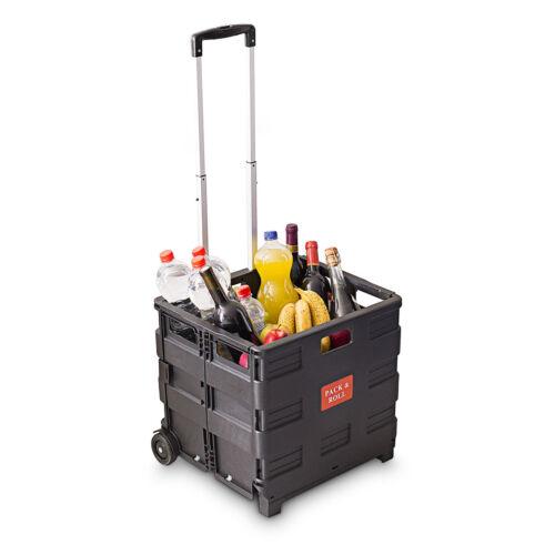 Klappbarer Trolley Gepäck Handgepäck bis 35 kg Faltbox Einkaufswagen Roller