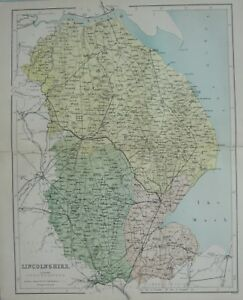 Map Of England Lincolnshire.Details About 1868 Map England Lincolnshire Grantham Bourn Horncastle Great Grimsby