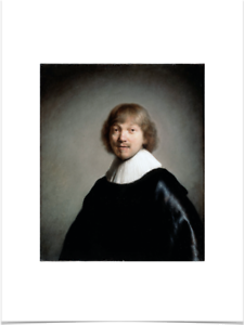 REMBRANDT-VAN-RIJN-JACOB-DE-GHEYN-BIG-BORDERS-LIMITED-EDITION-ART-PRINT-18X24