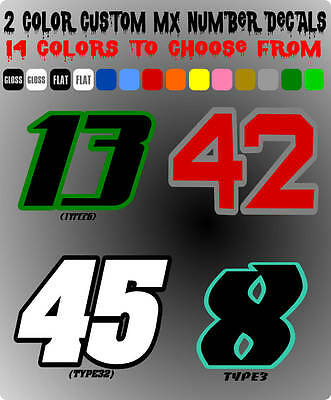 """7/"""" Number Plate Decal Supercross /""""8/"""" Eight Racing Digit 3 Pack Black"""