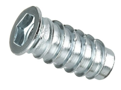 Insert Nuts M6 M8 M10 Threaded Hex Drive Wood Screw Various Packs