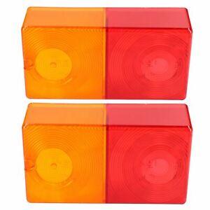 Charitable 2 Feu Remorque Arrière Remplacement Lampe Combinaison Véritable Lentille Britax