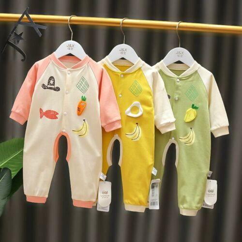 Newborn Baby Cute Animal Fruit Bodysuit Romper Infant Boy Girl Jumpsuit Clothes