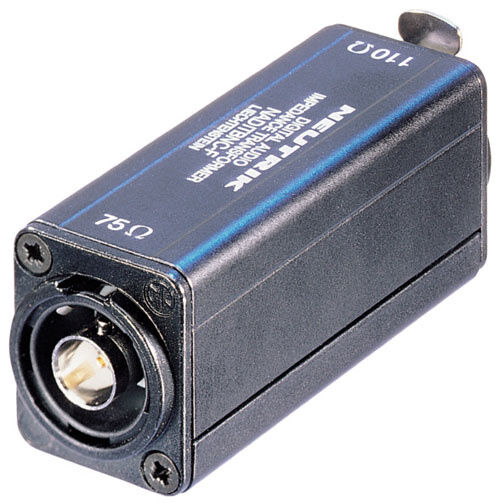 Neutrik Xlr Hembra Hembra Hembra Chasis A Hembra Bnc 110 Ohm Caja Conversor de salida de 75 ohmios  ventas calientes