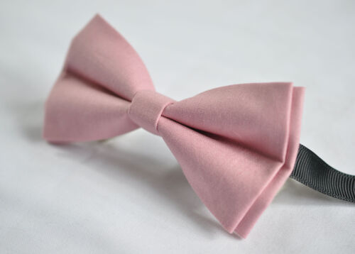 Men Men/'s 100/% Cotton Dusky Dusty Rose Pink Blush Pink Bow Tie Bowtie Wedding