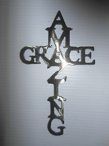 Image Is Loading Amazing Grace Cross Miniature 12 Gauge Steel Plasma