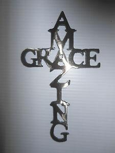 Amazing Grace Cross Miniature 12 Gauge Steel Plasma CNC Metal Wall Art Decor