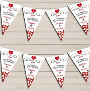 Hearts-Party-Decoration-1st-Any-Year-Wedding-Anniversary-Bunting-Party-Banner