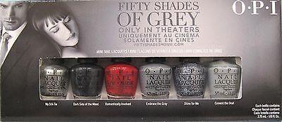 OPI 50 Shades of Grey Ltd Ed 6 Mini Nagellack Set ~ Seide Dunkelgrau Glanz Zement | eBay