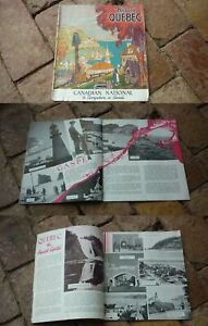 1930s-CANADIAN-NATIONAL-RAILWAY-HISTORIC-QUEBEC-TOURISM-BROCHURE-26-PAGES