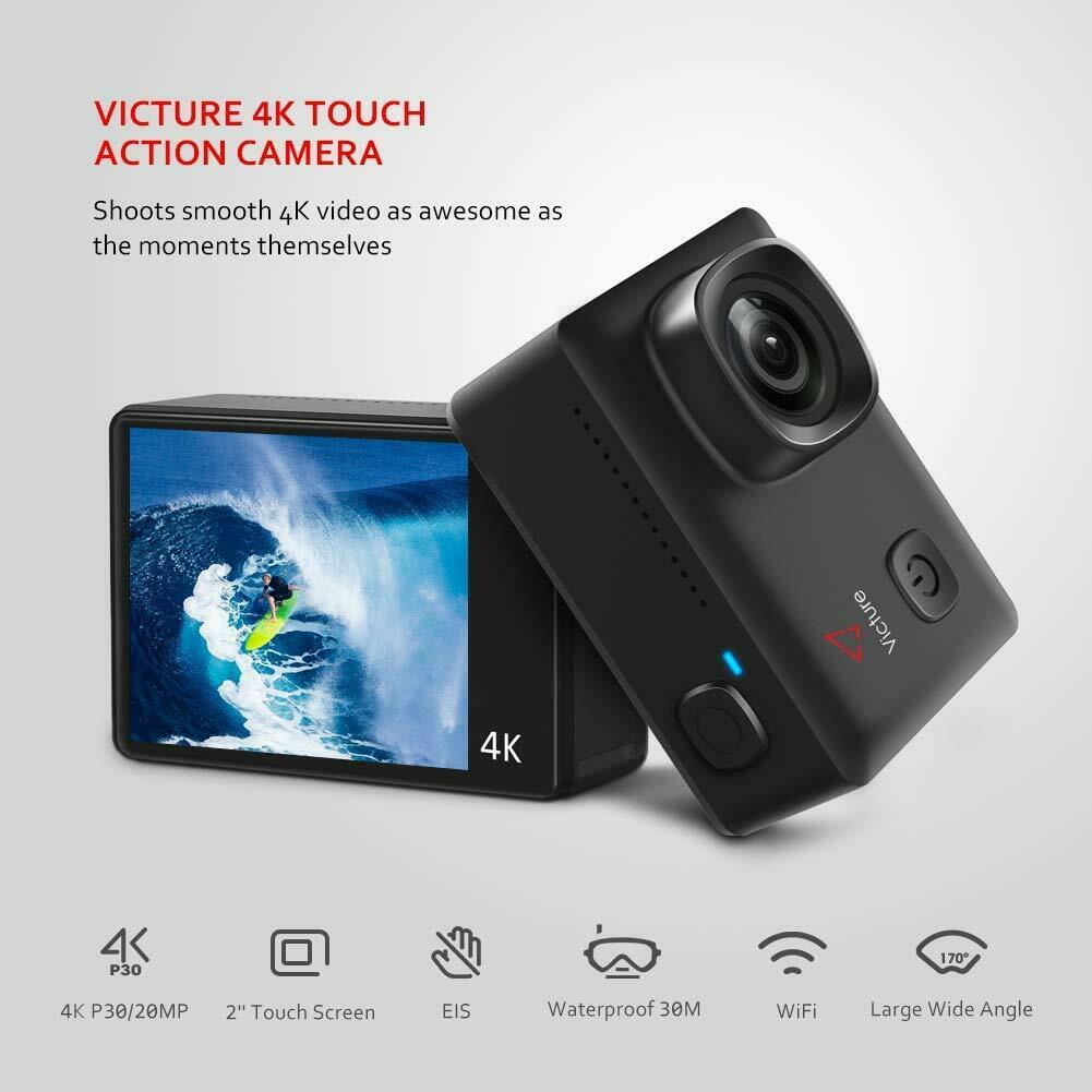 [New 4K / 60Fps] Victure Ac920 Action Camera 4K 20Mp Resolution Touch-Panel Eis 20mp ac920 action camera eis resolution victure