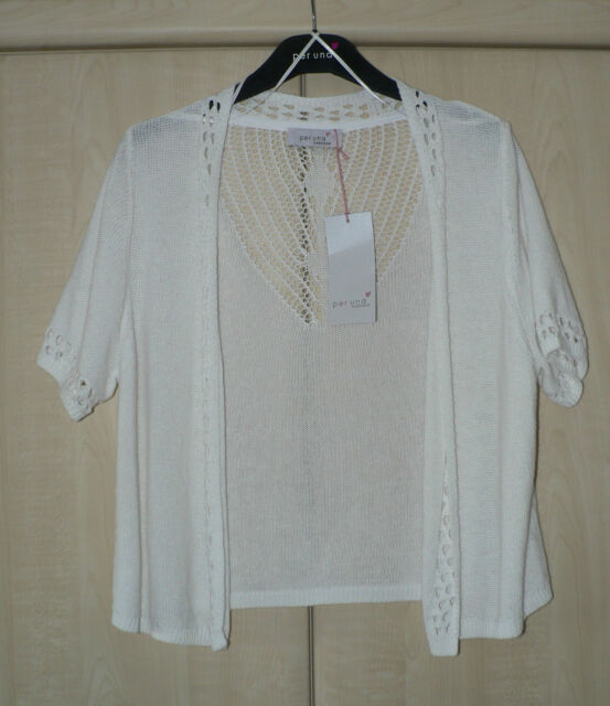 BNWT. PER UNA (MARKS & SPENCER ) CARDIGAN/SHRUG WITH LINEN. SIZE 16