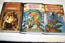 The Sword of Shannara Trilogy Terry Brooks 1977,1982,1985, SIGNED, 1st/1st, USA