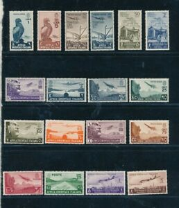D195152(1) Italy Italian East Africa Airmails Nice selection of MH stamps