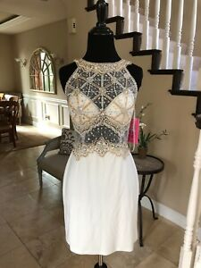 $358 NWT WHITE JVN BY JOVANI HOMECOMING/COC
