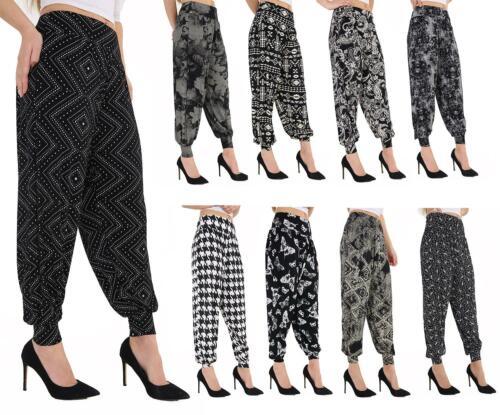 NEW WOMENS LADIES HAREM TROUSERS ALI BABA LONG PANTS BAGGY HAREEM LEGGINGS  8-26