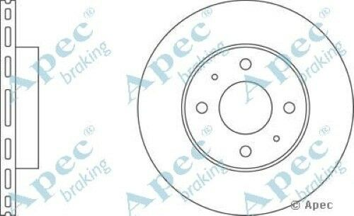 1x OE Quality Replacement Front Axle Apec Vented Brake Disc 4 Stud 247mm Single