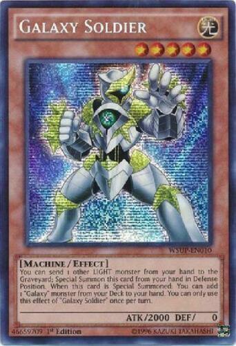 Prismatic Secret Rare Galaxy Soldier WSUP-EN010 1st Ed NM Yu-Gi-Oh