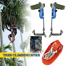 Treepole Climbing Spike Set Safety Belt Strap Rope Adjustable Stainless Steelus