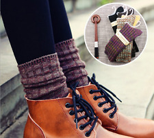 5 Pairs Lot 5 Colors Women Girl's Cotton Warm Thick Soft Retro Knit Winter Socks