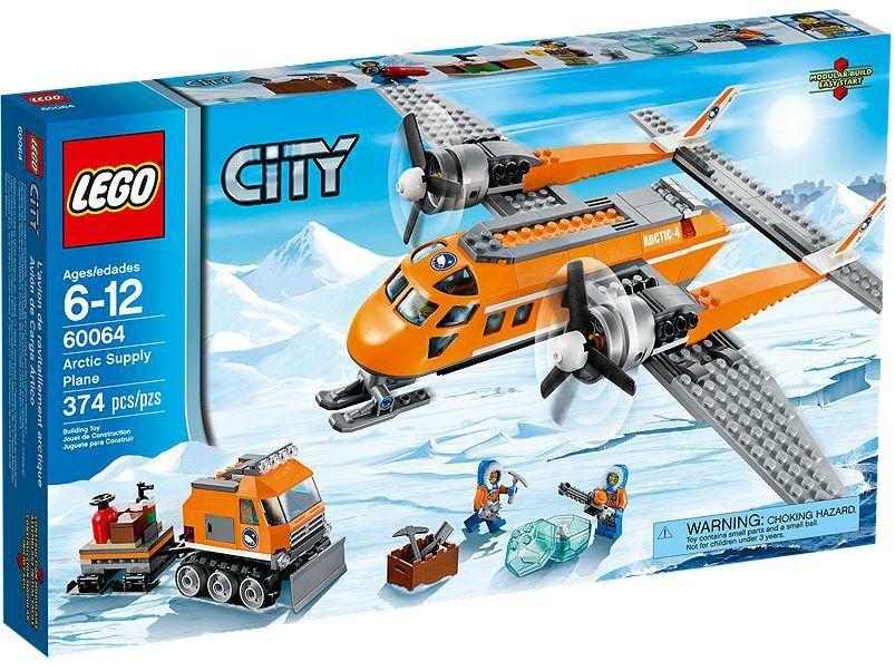 LEGO ® City 60064 aereo ARTICO NUOVO OVP Arctic supply PLANE NEW MISB NRFB