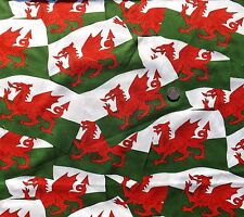 Welsh Flag red Dragon fabric fq 50 x 56 cm Nutex 11310-1 100% Cotton