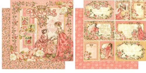 "Graphic45 Princess1x Double-Sided Cardstock 12/"" 1x doppelseit.Scrappapier 30,5cm"