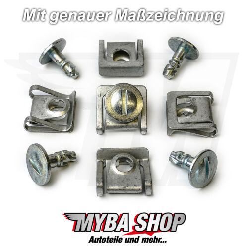 5x SET MOTORSCHUTZ UNTERFAHRSCHUTZ METALL CLIPS AUDI VW PASSAT SKODA KLIP NEU