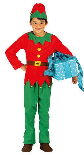 Christmas Elf Boys Fancy Dress Santas Littler Helper Kids Festive Fun Costume