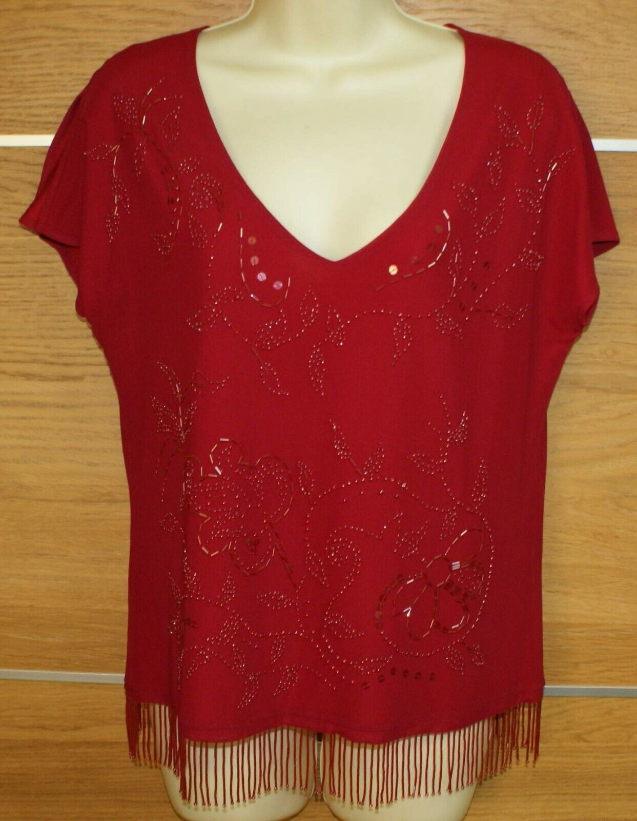 LAURA ASHLEY red top size L