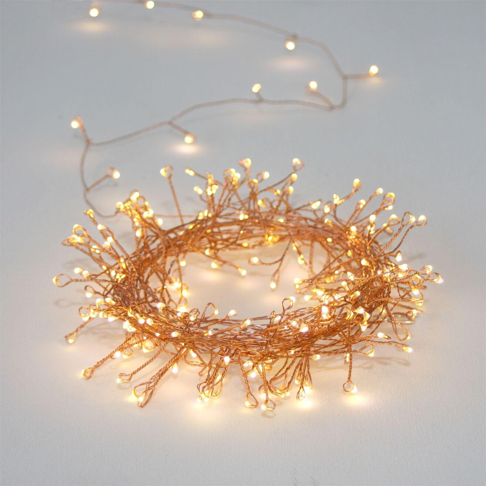 Cluster 300 de cobre - 300 Cluster LED Luz Interior/Exterior Cadena 15 M-alimentado por red 19fcb4