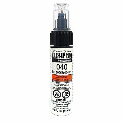 AUTHENTIC ORIGINAL TOUCH UP PAINT 040 TOYOTA SUPER WHITE GENUINE TOYOTA NEW!