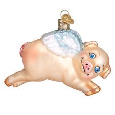 "12352 /""Flying Pig/"" X Old World Christmas Glass Ornament w// OWC Box"