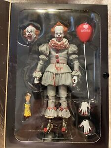 """NECA Bloody Version Pennywise Clown Action Figure Movie Doll New 7/"""" Scale Toy"""