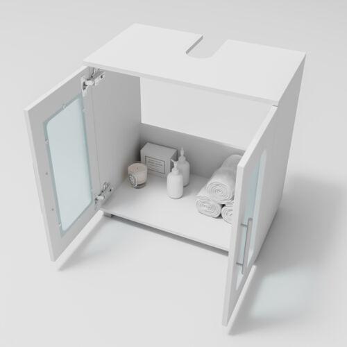 VICCO Badmöbel Set RAYK Weiß Bad Spiegel Waschtisch Unterschrank Badschrank