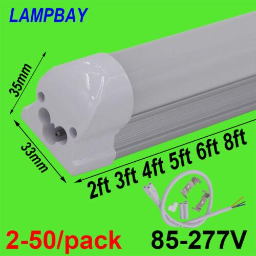 2-50//pack T8 Integrate Light LED Tube Bulb Fluorescent Bar Linkable Lamp Fixture