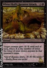 4x when Fluffy Bunnies Attack // nm // unhinged // Engl. // Magic the Gathering