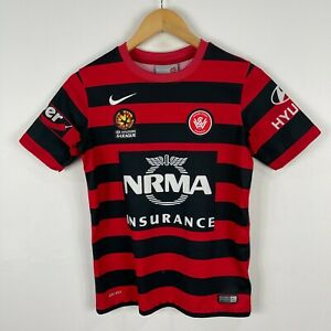 Western-Sydney-Wanderers-Football-Soccer-Jersey-Youth-Large-Nike-Short-Sleeve
