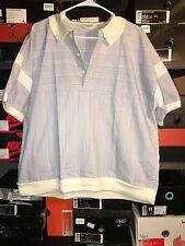 Vintage Christian Dior Monsieur Polo Shirt Knit Trim Colorful Designer Size XL