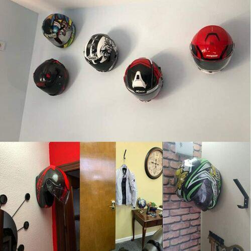2× Bicycle Motorcycle Helmet Holder Storage Shelves Wall Hanger Rack Accessories