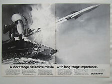 8/1977 PUB BOEING US ARMY ROLAND MISSILE ANTI AIRCRAFT EUROMISSILE ORIGINAL AD