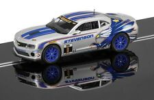 Scalextric C3596 Chevrolet Camaro GT-R Slot Car with Lights, Magnatraction etc