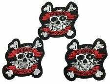 """The GOONIES Movie Logo 4/"""" to 5/"""" Embroidered Patch Set of 3"""